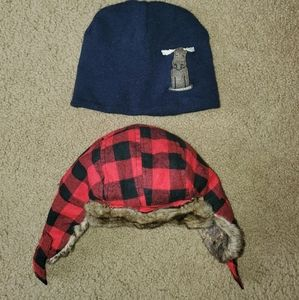 2 infant hats (north face and old navy)